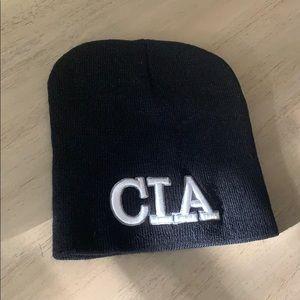 Black CIA beanie